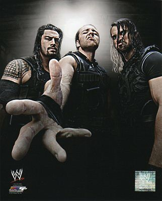 WWE PHOTO THE SHIELD STUDIO 8x10 OFFICIAL WRESTLING PROMO ROLLINS AMBROSE REIGNS