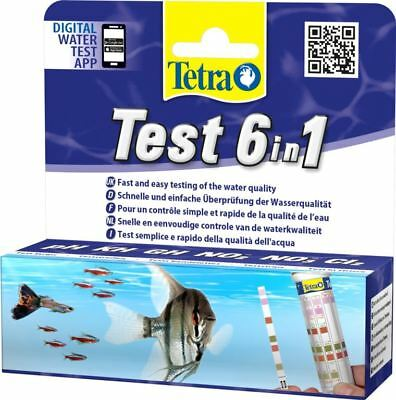 Tetra Aquariaum Water Tester Strips 6 in 1 PH KH GH NO2 NO3 C12
