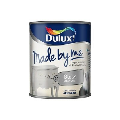 Dulux Made By Me Gloss - Urban Chic - Grey Gloss - Furniture Paint - 750ml