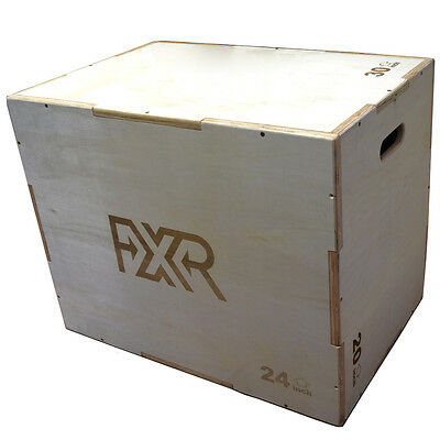 Fxr Sports 23Kg Heavy Wooden Premium Plyo Mma Plyometric Jump Box Crossfit Wood