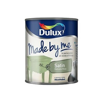 Dulux Made By Me Satin - Delicate Moss 750ml - Green Satin - Furniture Paint