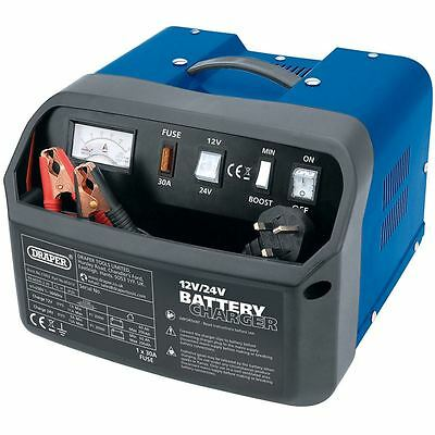 Draper 12/24V 12A Car Battery Charger 11953