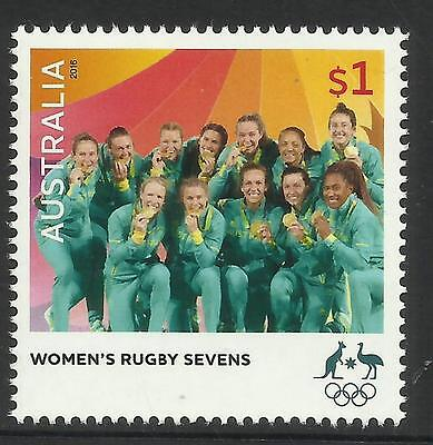 AUSTRALIA 2016 WOMENS RUGBY SEVENS RIO OLYMPIC GAMES GOLD MEDAL Single 1v MNH