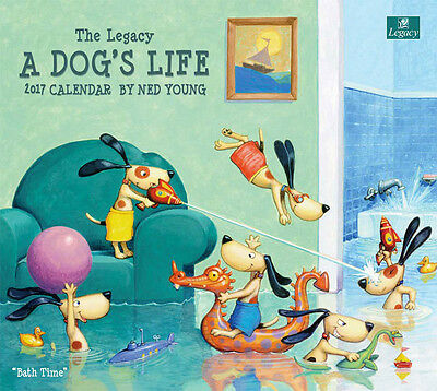 2017 Lang / LEGACY Calendar A DOGS LIFE New Wall Calender Fits Wall Frame FRE...