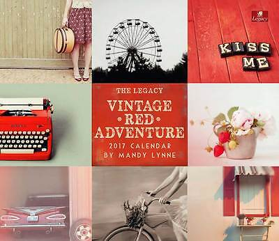 2017 Lang / LEGACY Calendar VINTAGE RED New Wall Calender Fits Wall Frame FRE...