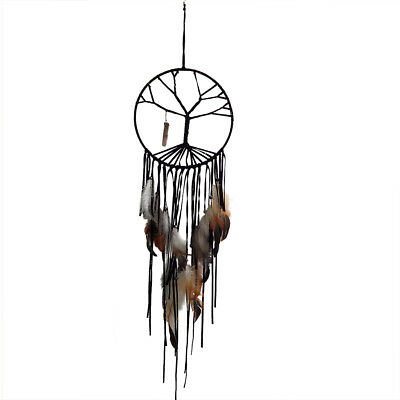 The Tree of Life Net Dreamcatcher Car Home Decor Hanging Ornaments Black