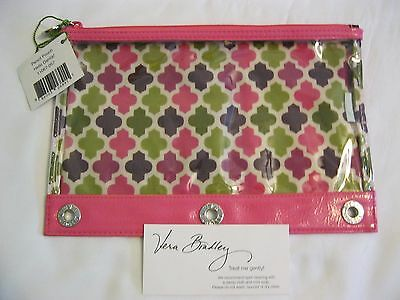 Vera Bradley HELLO DAHLIA Pencil PEN Pouch CASE 4 BACKPACK Tote SCHOOL Art PINK