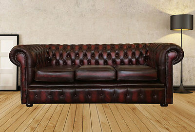 Astounding Antique Oxblood Red Chesterfield Genuine Leather Sofas Cjindustries Chair Design For Home Cjindustriesco