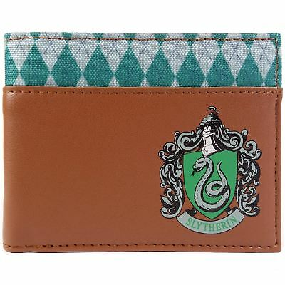 New Official Cool Harry Potter Slytherin House Symbol Bi-Fold Wallet