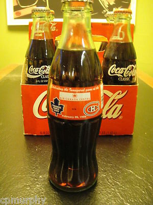 Toronto Maple Leafs Inaugural Game Coca Cola Coke 2/20/99 Hockey Unopened Bottle