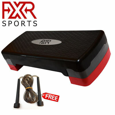Fxr Sports Adjustable 2 Level Aerobic Stepper Step Fitness Training Yoga Gym