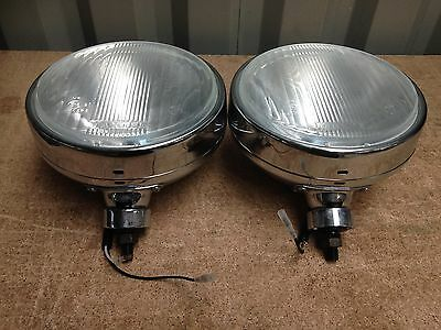 "9"" or 210mm driving lights chrome, pair, suit 4x4 rally car truck MAXTEL EL-0003"