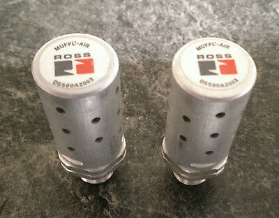 "• 2x ROSS MUFFL-AIR SILENCER D5500A2003 Pipe Size 1/4"" -unused- #GO"