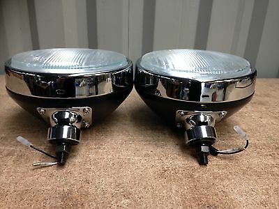 "9"" or 210mm driving lights black, pair, suit 4x4 rally car truck MAXTEL EL-0004"