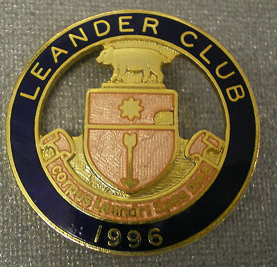 LEANDER CLUB 1996 ENAMEL Badge HENLEY ON THAMES - ROWING corpus leandri spes mea