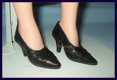 "BLACK Embroidered SHOES fit Madame Alexander 21""/22"" Portrait SCARLETT O'HARA"