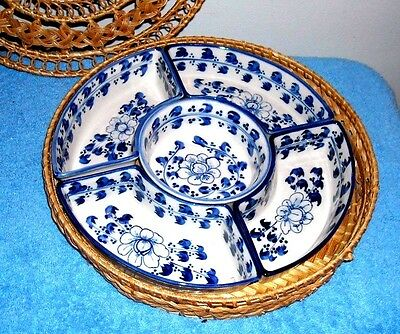 Porcelain Sweetmeat Set Blue And White
