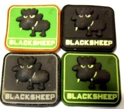 Ready to patch 3D Rubberpatch Little Black Sheep in forest multicam GID swat