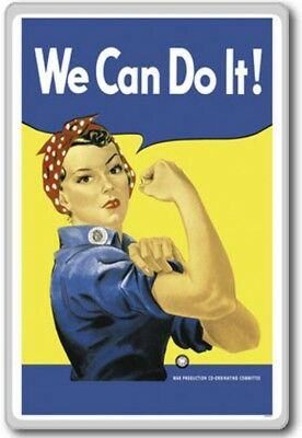 Rosie The Riveter, We Can Do It! – Motivational Quotes Fridge Magnet