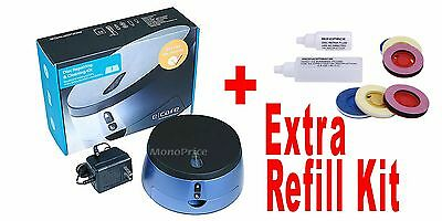 Disc Repair Scratch Cleaning Disk DVD CD Blu-Ray Wii XBox PS4 PS3 2 + Refill Kit