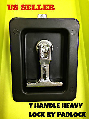 LOT OF 2 Black T Handle Heavy Duty Lock By Padlock For Electricity station Truck