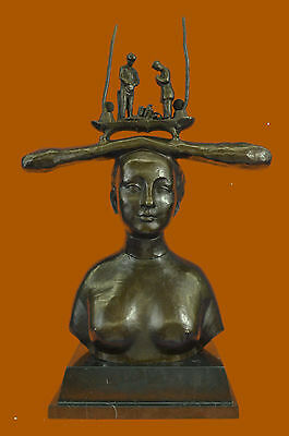 Abstract Moden Gift Nude Lady Based on Millet Famous Picture Bronze Sculpture