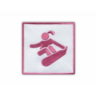 Pink Snowboard - Boarder Girl - Logo PATCH/BADGE