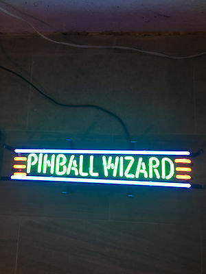 Neonetics 5PWIZA Bar and Game Room Pinball Wizard Neon Sign