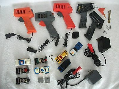 TCR- Slot Car Accessories- 5 Chassis- 5 Bodies- 3 Controls- 2 Power Paks- P or R