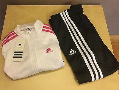 girls gymnastics adidas tracksuit age 7-8 ideal back to school Free Postage