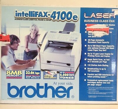 New Brother IntelliFax-4100E All-In-One Business Class Laser Fax Copier Machine
