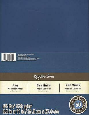 "New Recollections 8.5x11"" Cardstock Paper Navy Blue 50 Sheets"