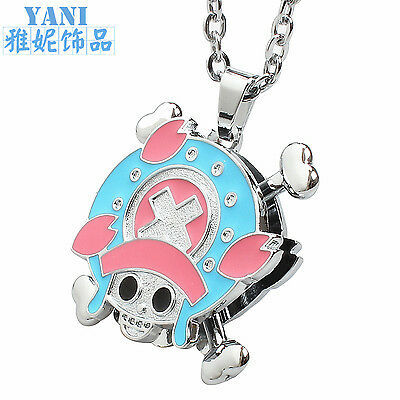 HOT Anime One Piece Luffy Rotatable Alloy Pendant Necklace Cosplay Gift Fashion