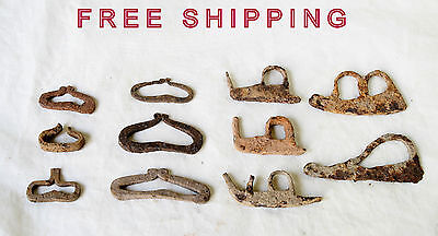 Lot of 11 IRON FIRE STARTER ANTIQUE ANCIENT ROMAN ARTIFACT - Metal Detector