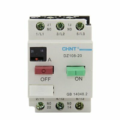 CHINT Electric AC Motor Starter Circuit Breaker  DZ108-20 14-20A 3VE1