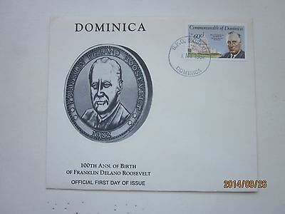 Dominica 100th Ann. Of Birth of Franklin Delano Roosevelt First Day Issue 1982