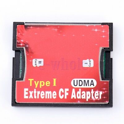 Dual Port Micro SD SDXC -HC TF to Compact Flash CF Type I Card Reader Adapter WT