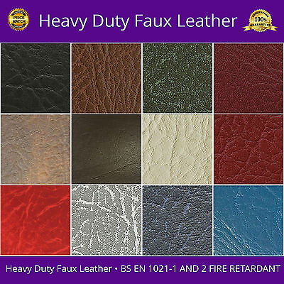 Faux Leather Heavy Duty Leatherette Vinyl Fabric PVC Material Fire Resistant