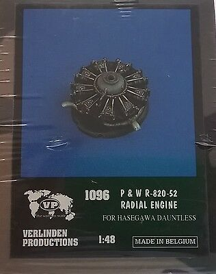 Verlinden 1:48 P & W R-820-52 Radial Engine For Hasegawa Dauntless Art 1096