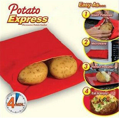 Potato Express Microwave Cooker Bag 4 Minutes Fast Reusable Washable