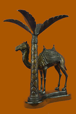 Art Deco Middle Eastern Trophy Bronze Camel Arabian Night Home Office Bronze LRG
