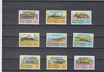 ST CHRISTOPHER NEVIS ANGUILLA OFFICIAL 1980 YT: 1/9 MNH complete
