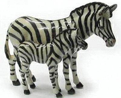 Northern Rose Miniature Porcelain Animal Figure Zebra with Baby R097