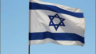 ISRAEL NATIONAL FLAG JEWISH MAGEN DAVID STAR -LARGE SIZE 3.6x5 ft 110x150 cm