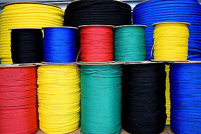8mm Polypropylene Rope Braided Cord Sailing Boating Camping Climbing - 5 Colours