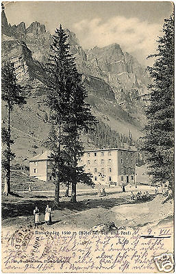 1911, AK, Schweiz, Urnerboden (Hotel W. Tell und Post), S. Aseliwanden Photo