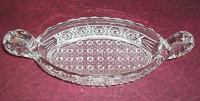 Antique Imperial Glass Handled Pickle Dish! Pattern #495 Discontinued 1914!