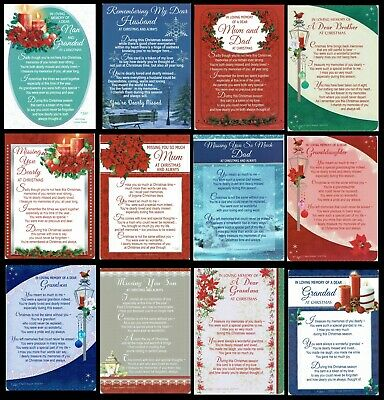 CHRISTMAS ~ GRAVE CARD ~ something for Everyone ~  With FABULOUS VERSES