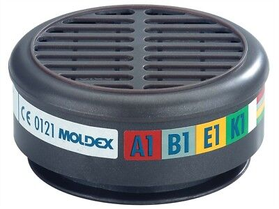 Moldex MOL890001 ABEK1 Gas Filter For 8000 Half Mask (Wrap of 2)
