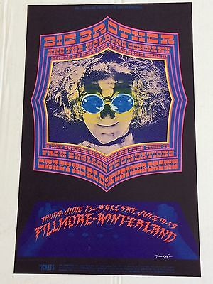 Janis Joplin Big Brother BG Fillmore Poster from 1968 Concerts Mint NM